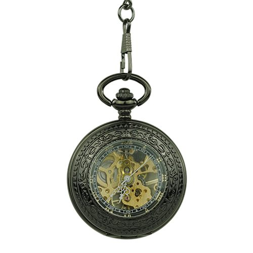 Black and Gold Dad Hunter Pocket Watch