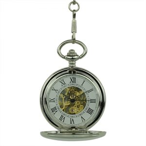 Polished Silver Half Hunter Pocket Watch