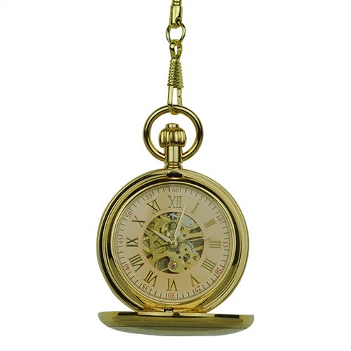 Gold Victorian Sphere Double Hunter Fob Watch