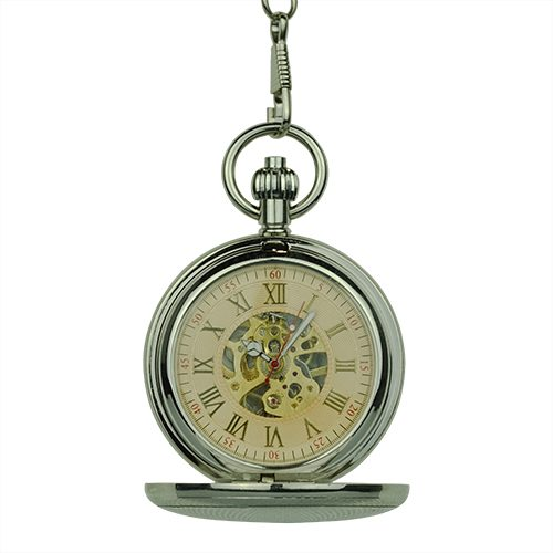 Silver Victorian Sphere Double Hunter Fob Watch