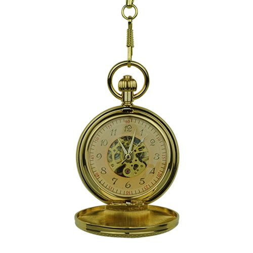 Gold Vintage Car Hunter Pocket Watch