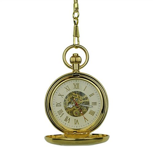 Gold Double Hunter Pocket Watch