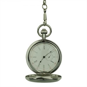 Silver Coat of Arms Hunter Pocket Watch
