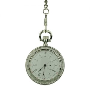 Silver Victorian Open Face Pocket Watch