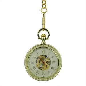 Gold Victorian Open Face Pocket Watch