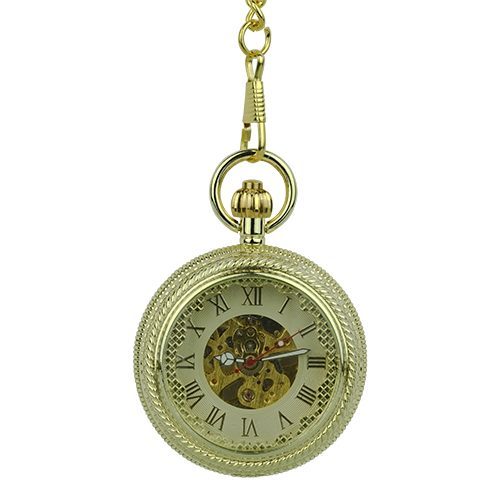 Gold Rope Hunter Fob Watch