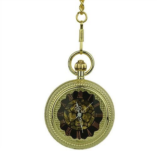 Gold Rope Hunter Pocket Watch