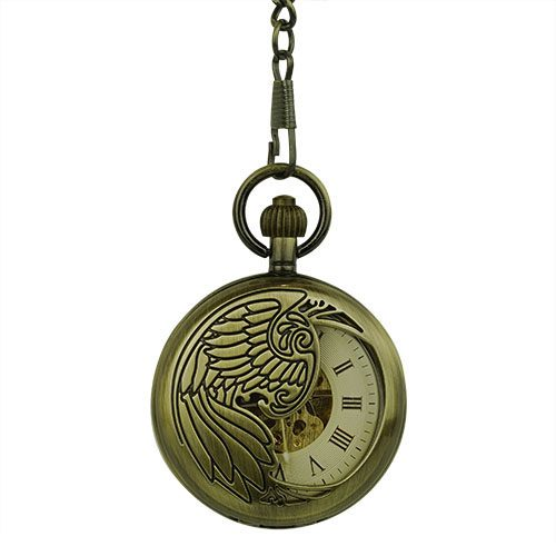 Golden Phoenix Hunter Pocket Watch