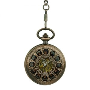 Brass Dial Half Hunter Fob Watch