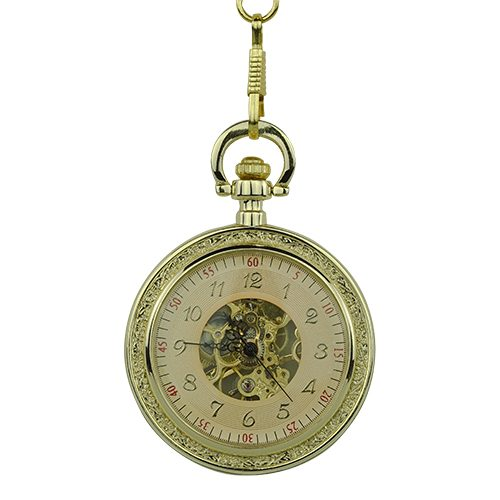 Gold Victorian Open Face Pocket Watch