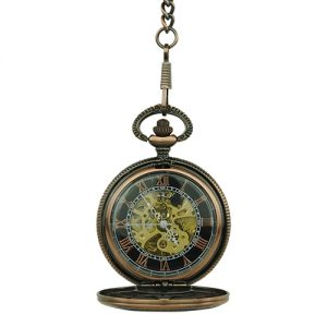 SIlver Flower Half Hunter Pocket Watch