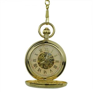 Gold Vintage Roman Numeral Hunter Pocket Watch