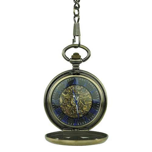 Golden Flower Hunter Pocket Watch