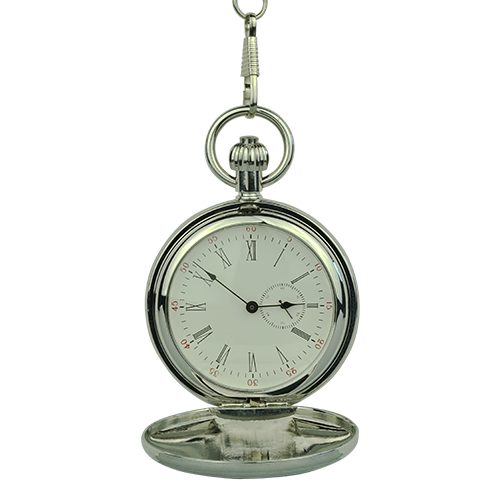 Silver Victorian Hunter Fob Watch