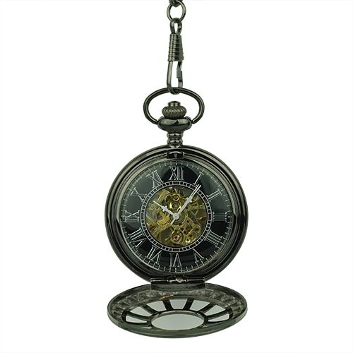Gold Vintage Tire Half Hunter Pocket Watch